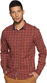 People Men's Printed Regular fit Casual Shirt