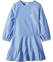 Oscar de la Renta Childrenswear - Long Sleeve Tie Bow Front Dress (Little Kids/Big Kids)