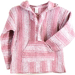 Elliott and Oliver Co. Woven Baja Hoodie Mexican Sweater Striped Rug Pullover Poncho Sweatshirt