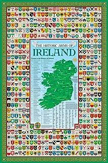 Historic Families Irish Family Crest Coat of Arms Poster Ireland