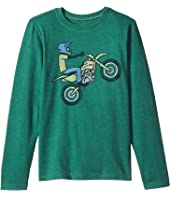 Life is Good Kids Dirt Bike Rider Long Sleeve Crusher Tee (Little Kids/Big Kids)