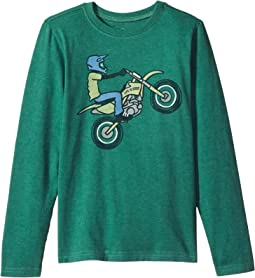 Life is Good Kids - Dirt Bike Rider Long Sleeve Crusher Tee (Little Kids/Big Kids)