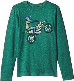 Life is Good Kids - Dirt Bike Rider Long Sleeve Crusher Tee (Little Kids/Big Kids)