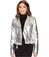 ROMEO & JULIET COUTURE - Metallic Moto Jacket
