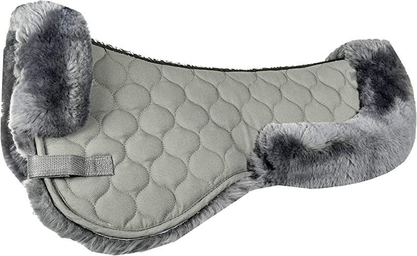 HKM Sports Equipment GmbH étui en Laine d'agneau Selle Coussin de Selle & brbn, Mixte, Echt-Lammfell-Sattelkissen