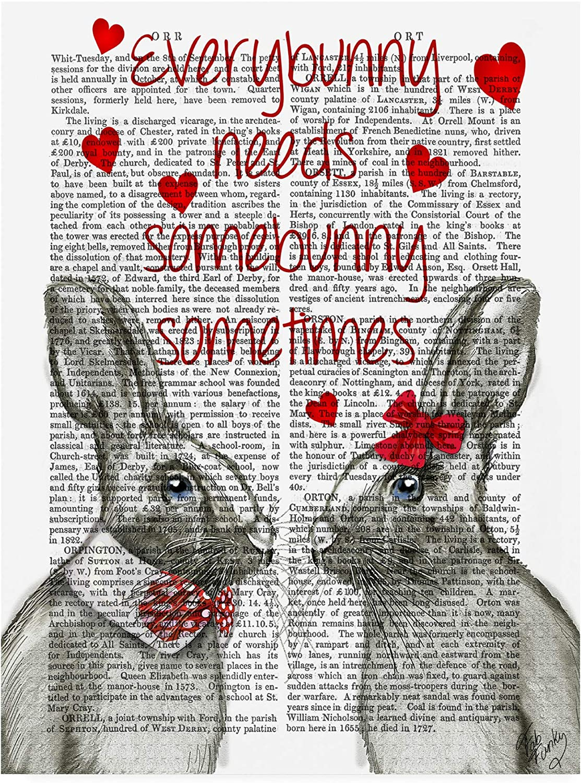 Trademark Fine Art Every Bunny by Fab Funky, 14x19