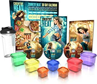 Beachbody Country Heat Base Kit Plus Portion Control Containers and Shaker Cup - Autumn Calabrese