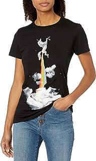 Goodie Two Sleeves Juniors Rocket Unicorn Graphic Tee