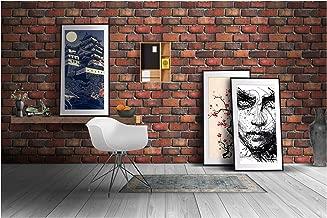Store2508 Red Bricks Design Textured Self Adhesive Sticker Wallpaper (0.53x5 m, 28.5 Square Feet)