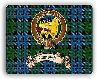 Campbell Scottish Clan Tartan Crest Computer Mouse Pad