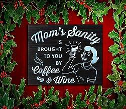 Koffie en Wijn Teken, Grappige Dag geschenk van dochter, moeder van tiener gekke familie tekenen, wijn minnaar cadeau, sta...