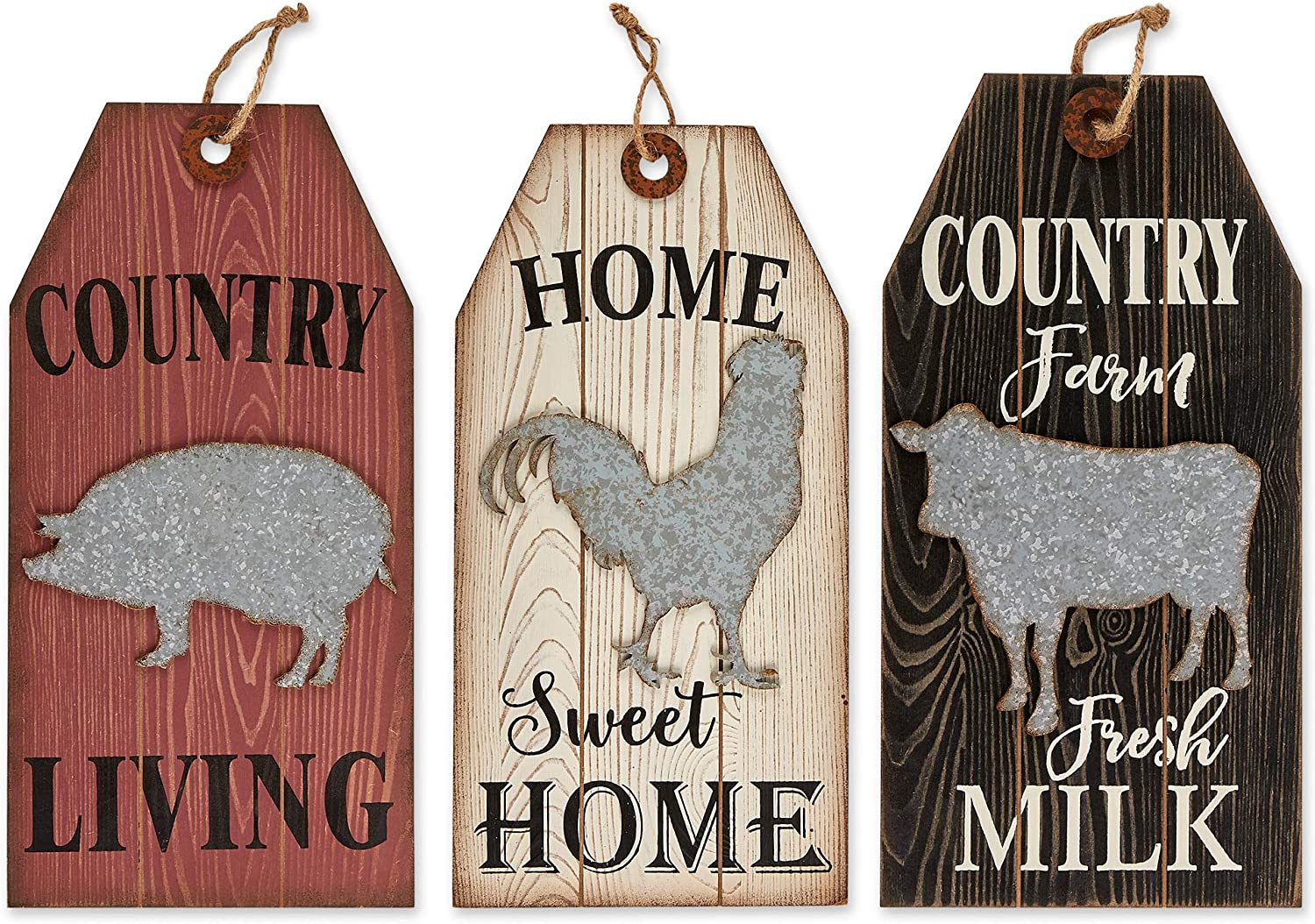 DII CAMZ11432 New product Al sold out. type Farmhouse Framed Wall Art Tag Sign S 3