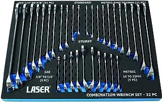Laser - juego de llaves combinadas, modelo 6795–Cromadas (32piezas).