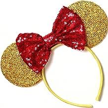 Beauty and the Beast Ears, Belle Ears, Belle Mickey Ears, Disney Inspired Beauty and the Beast Ears, Gold Minnie ears,
