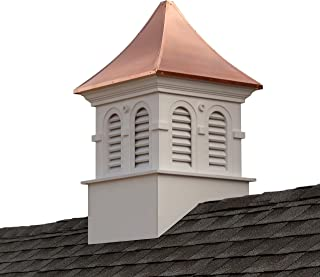 """Good Directions Smithsonian Columbia Vinyl Cupola with Copper Roof, 26"""" x 43"""""""