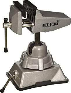 Bessey BVVB Vacuum Base Vise,Silver