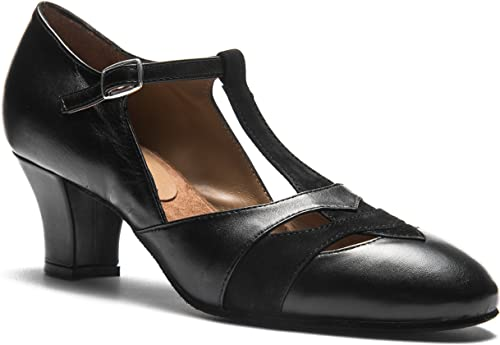 9233 Zapato Baile mujer Dance zapatos Swing Ballroom Lindy Hop tacón 5 cm