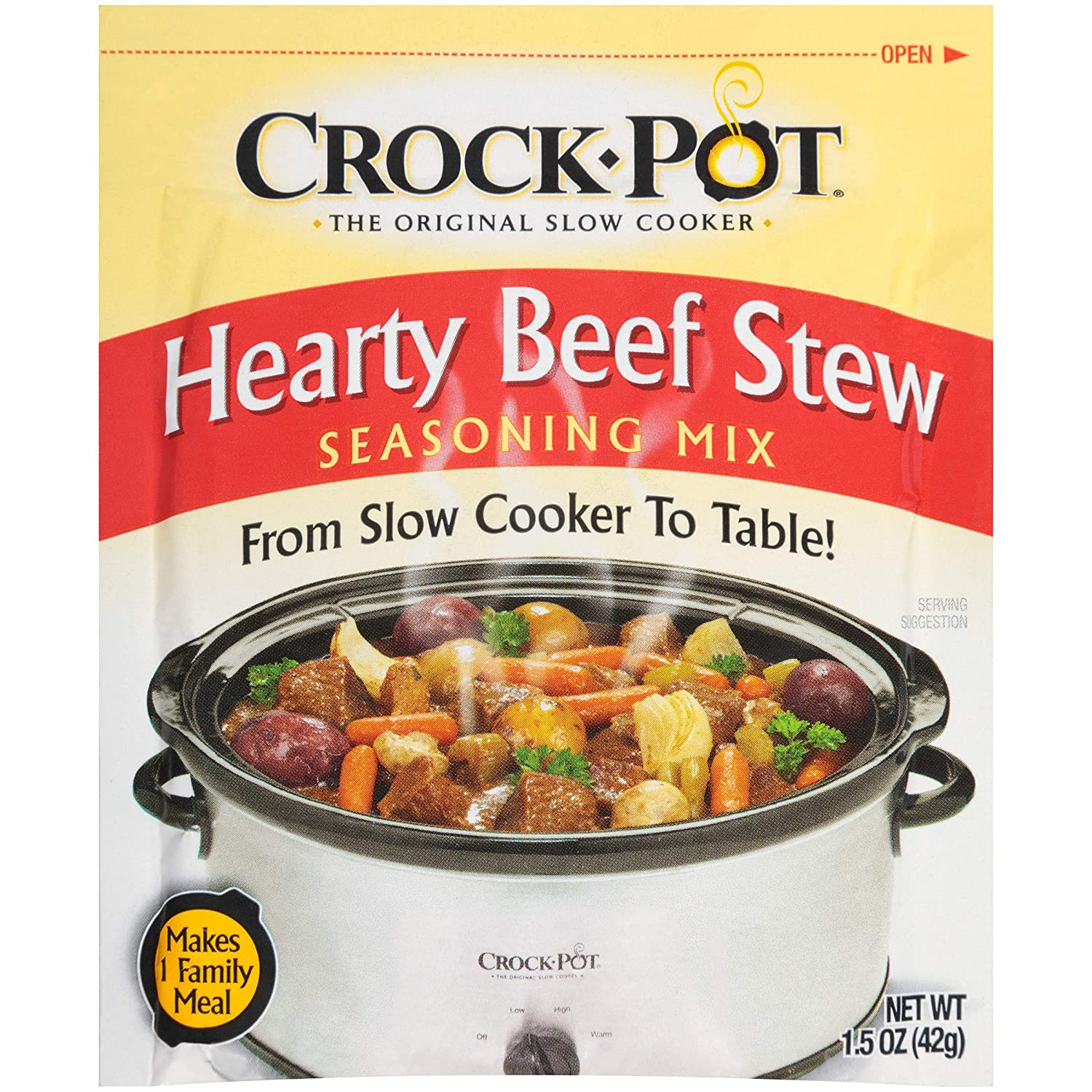 Amazon Com Crock Pot Seasoning Mix Hearty Beef Stew 1 5 Ounce Pack Of 12 Meat Seasonings Grocery Gourmet Food