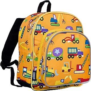 Wildkin 40110 Olive Kids Under Construction 12 Inch Backpack, Pack 'n Snack