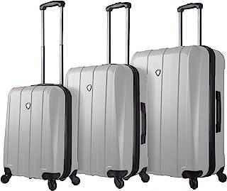 Mia Toro Italy Tosetti Hardside Spinner Luggage 3pc Set, White, One Size