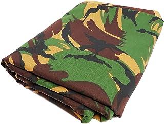 TODA Camouflage Stoff Tarndruck Flecktarn Militär NATO   600 x 150 cm   reißfest   witterungsbeständig   Mischgewebe British DPMTyp 20
