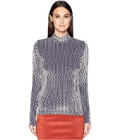 Sonia Rykiel - Saint Germain Velours Polka Dot Crew Neck Sweater