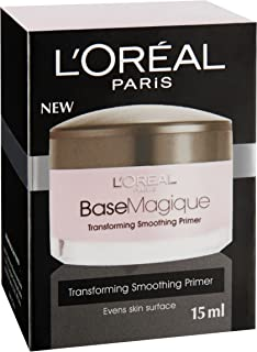 L'Oreal Paris Base Magique Transforming Smoothing Primer, 15 Milliliters