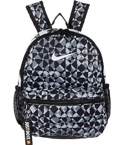 Nike Kids Brasilia All Over Print Backpack Mini (Little Kids/Big Kids) (Black/Black/White) Backpack Bags