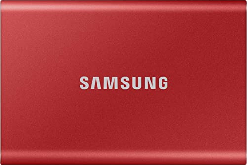 Samsung T7 1TB Up to 1,050MB/s USB 3.2 Gen 2 (10Gbps, Type-C) External Solid State Drive (Portable SSD) Red (MU-PC1T0R)