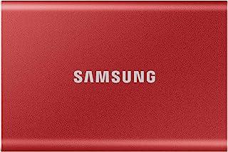 Samsung T7 Portable SSD - 2 TB - USB 3.2 Gen.2 External SSD - Metallic Red (MU-PC2T0R/WW)