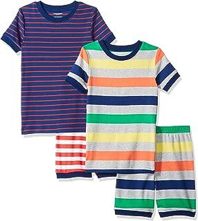 Amazon Essentials Toddler and Kids' 4-Piece Short Sleeve Pajama Set