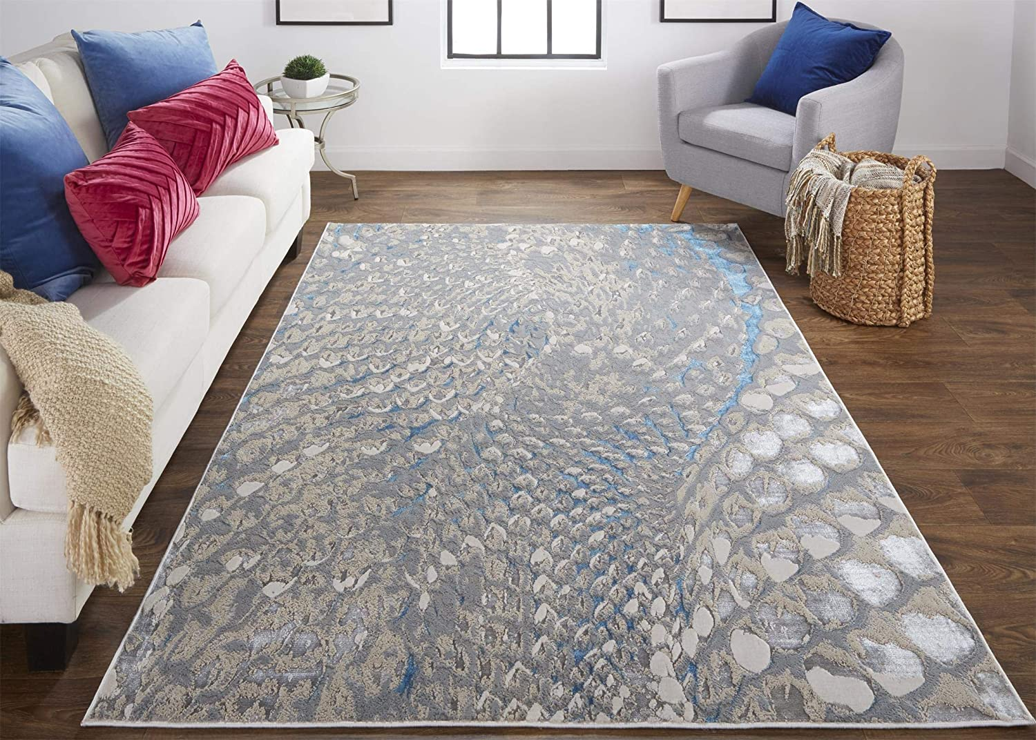 Feizy Rugs - Azure Collection Graphic Transitional Minneapolis Mall Area B Raleigh Mall Rug