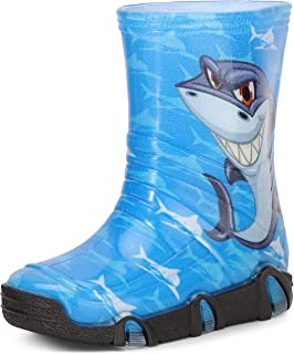 Ladeheid Botas de Agua Zapatos de Seguridad Calzado Unisex Niños SwkBW2020