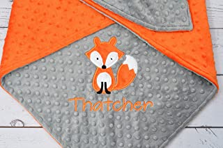 97350f2645 Personalized baby blanket - Personalized minky baby blanket - Personalized minky  blanket - Fox Baby Blanket