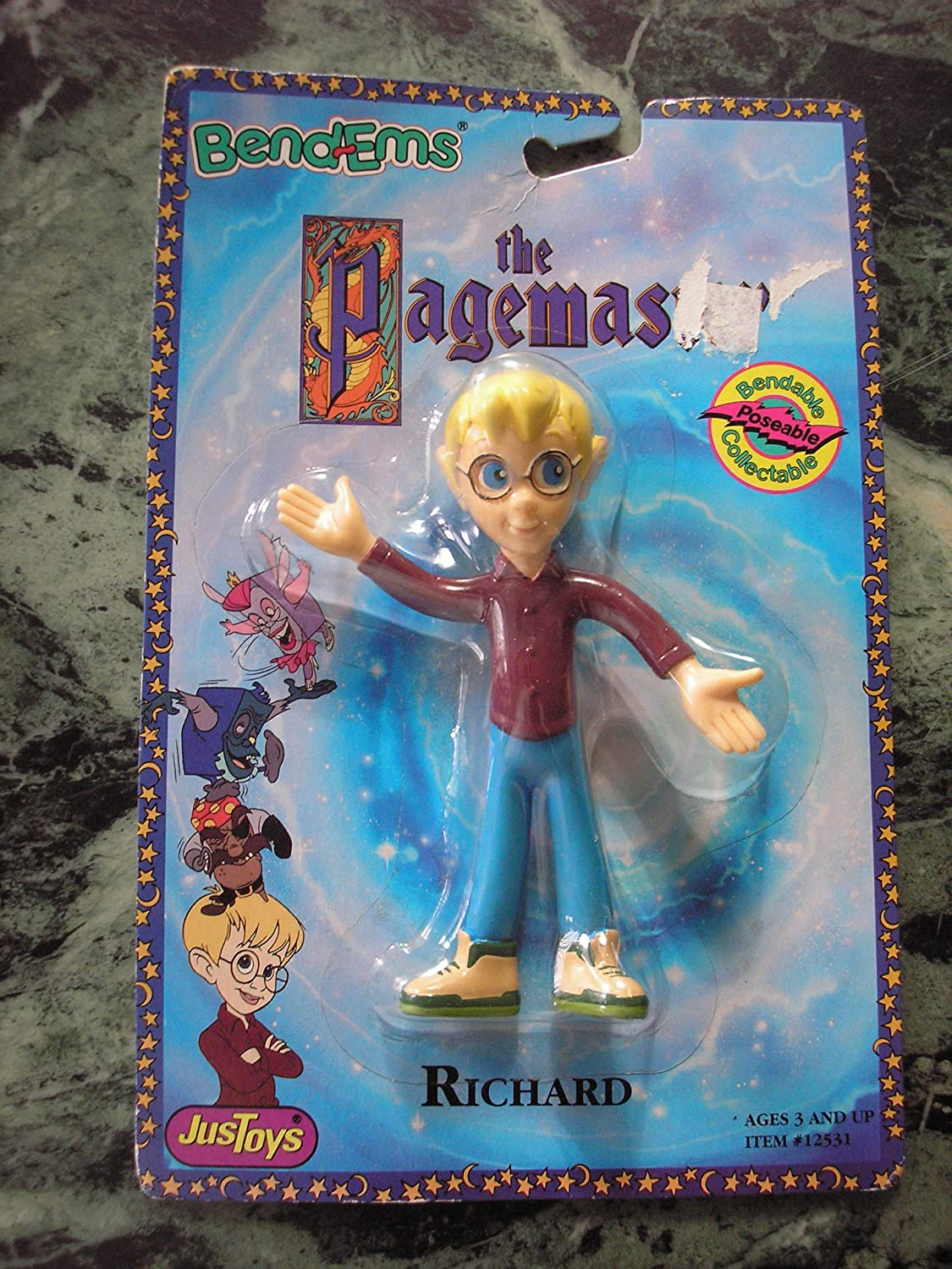 The Pagemaster Bend-Ems Bendable Richard Figure