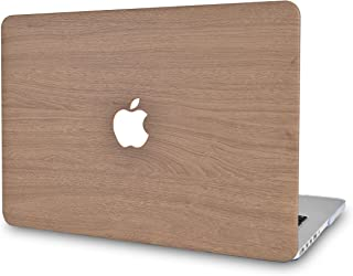 LuvCase Leather Hard Shell Cover Compatible MacBook Pro 13 inch A2159 / A1989 / A1708 / A1706 with/Without Touch Bar, Newest Release 2019/2018/2017/2016 (Brown Wood)