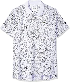 Lacoste Men's Novak Short Sleeve Ultra Dry Net Print Polo