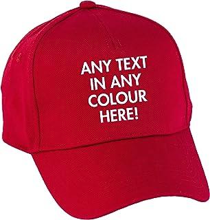 Hippowarehouse Personalised Baseball Cap hat Premium Printed 5 Panel OneSize Adults