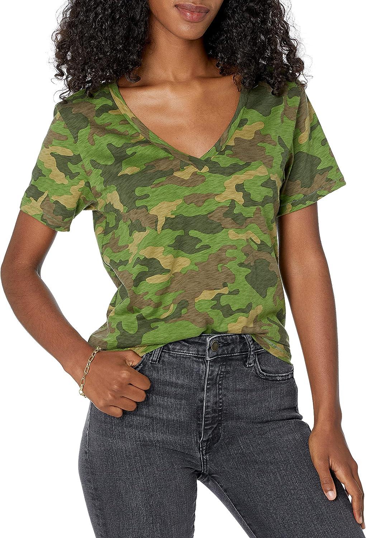 The Drop Women's Lindsey Short-Sleeve V-Neck Loose Fit T-Shirt