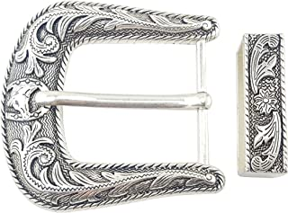 Sterling Silver Finish Western Buckle and Loop set