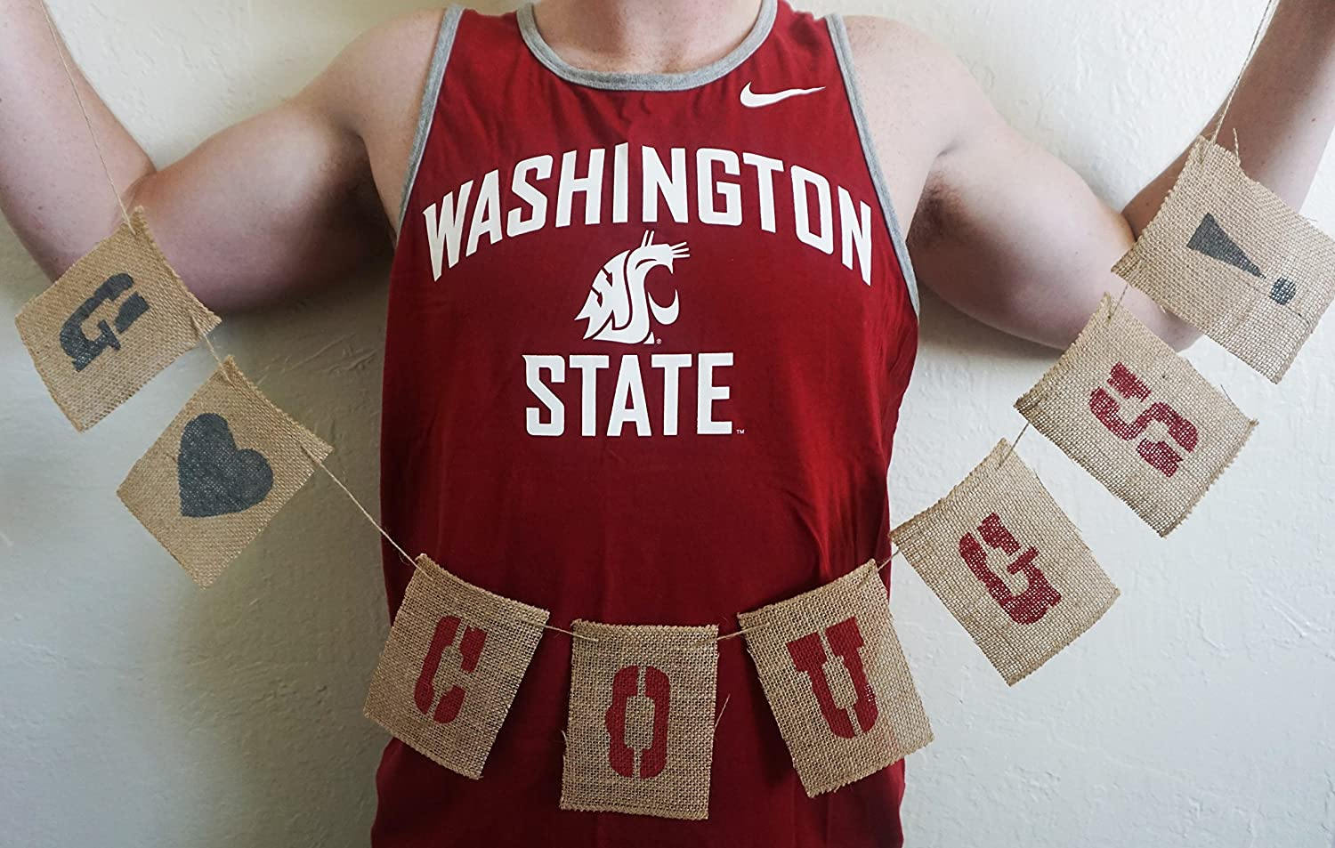 Store GO COUGS Banner Over item handling Burlap