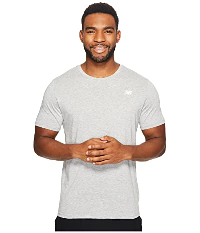 New Balance Heather Tech Short Sleeve (Athletic Grey) Men