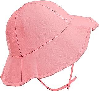 Tiernelle Sombrero para Niña. Gorro para Bebe niña para protección Solar de Cabeza, Cuello y Ojos. Gorro para Bebe niña co...