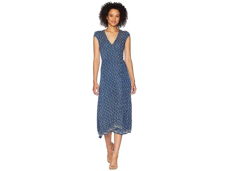 Lucky Brand Border Print Maxi Dress (Multi) Women