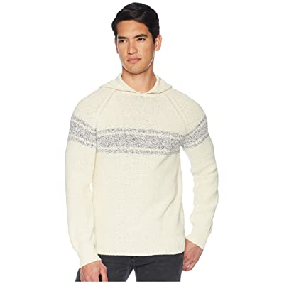 Vince Texture Stripe Pullover Hoodie (Painters Cloth/Coastal) Men