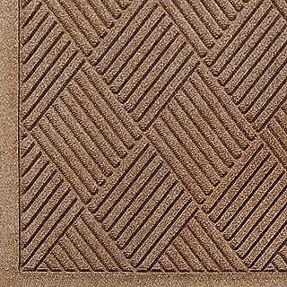 WaterHog Fashion Diamond-Pattern Commercial Grade Entrance Mat, Indoor/Outdoor Medium Brown Floor Mat 6' Length x 3' Width, Medium Brown by M+A Matting