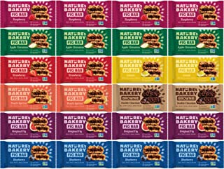 Nature's Bakery Whole Wheat Fig Bars - All Natural, Non-GMO, Vegan Plant-Based Snack - 24 Count Variety Sampler Pack