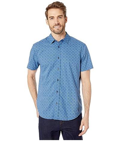 Prana Ulu Standard Fit Shirt (Steel Blue Geo) Men
