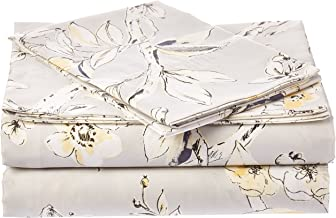 Tribeca Living Colm4Psstwsg Extra Deep Pocket Printed Sheet Set, Twin, Silver Grey/Multi