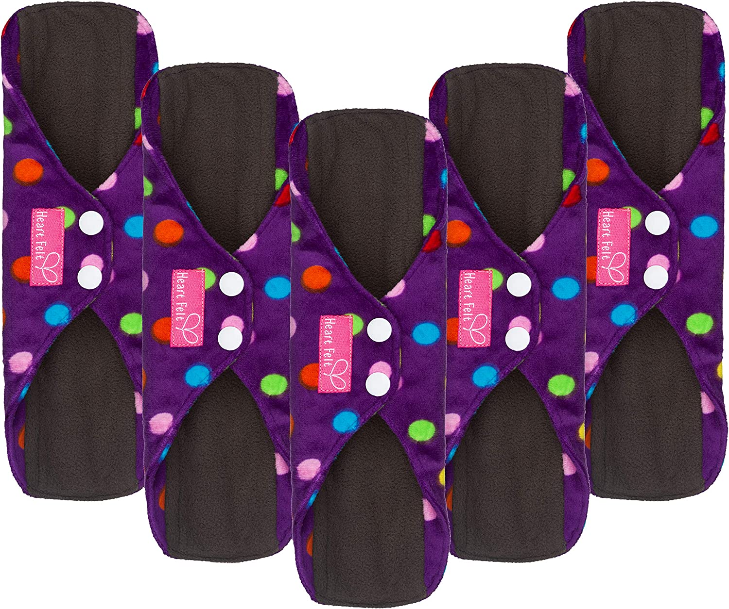 Sanitary Mesa Mall SEAL limited product Reusable Cloth Menstrual Pads by 5 Pack Was Heart Felt.